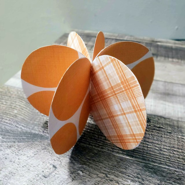 pumpkin crafting from paper
