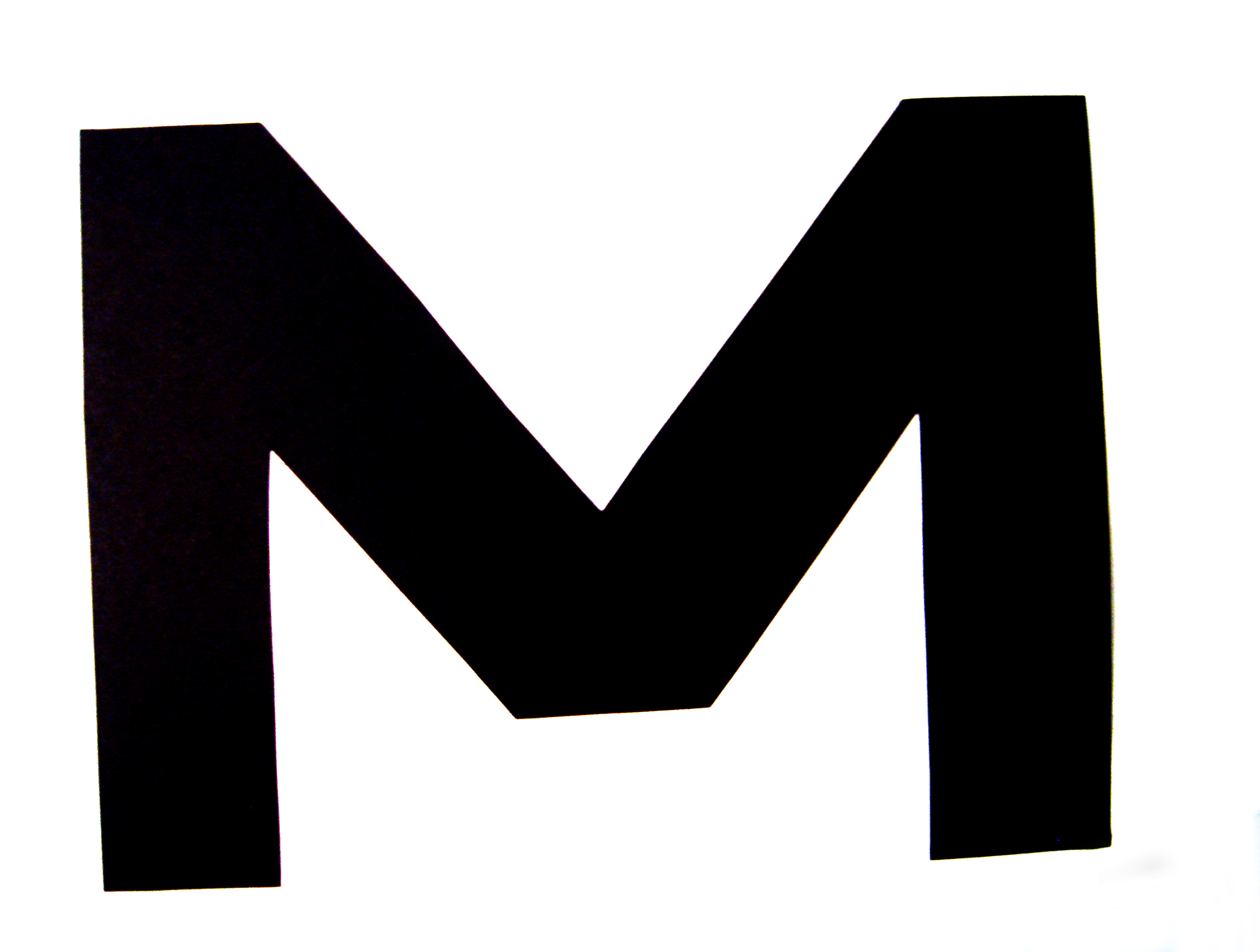The Letter M In Black