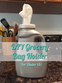 Bagging Those Bags- DIY Grocery Bag Holder  Make ...