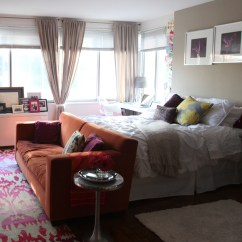 Beds For Living Room Great Rooms 11 Ways To Divide A Studio Apartment Into Multiple Put Your Couch At The Foot Of Bed