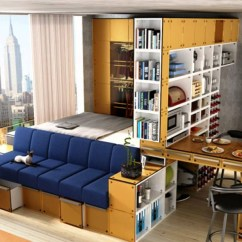 Living Room Bed Mediterranean Inspired 11 Ways To Divide A Studio Apartment Into Multiple Rooms How Turn Bedroom Add Platform With Storage