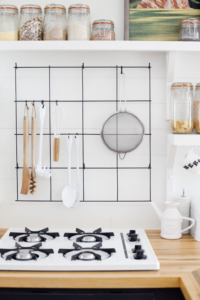 kitchen wire rack small remodeling ideas 48 storage hacks and solutions for your home cheap organization hang a above the stove to store cooking supplies