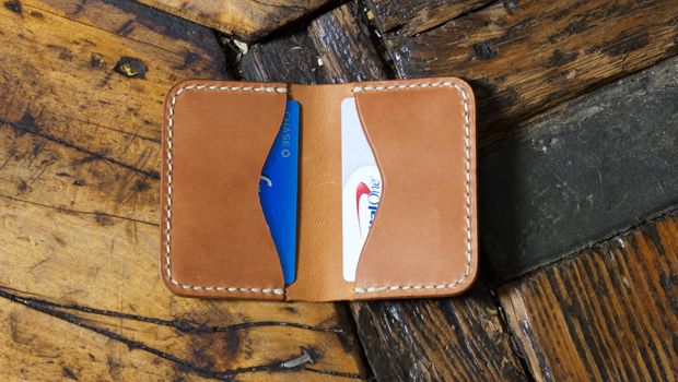 Make A Folded Leather Card Holder Free Template Build Along Video Tutorial MAKESUPPLY