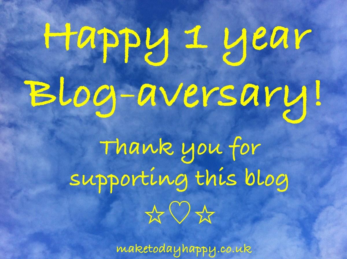 Happy Blog-aversary