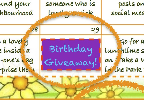 Act of kindness #31: Birthday Giveaway