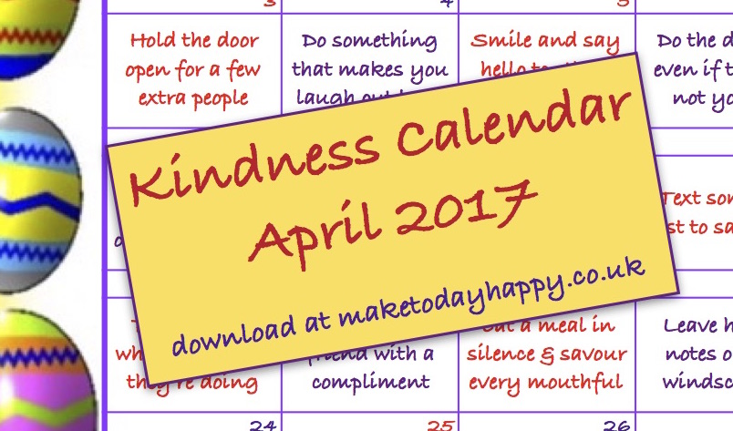 Kindness Calendar: April 2017