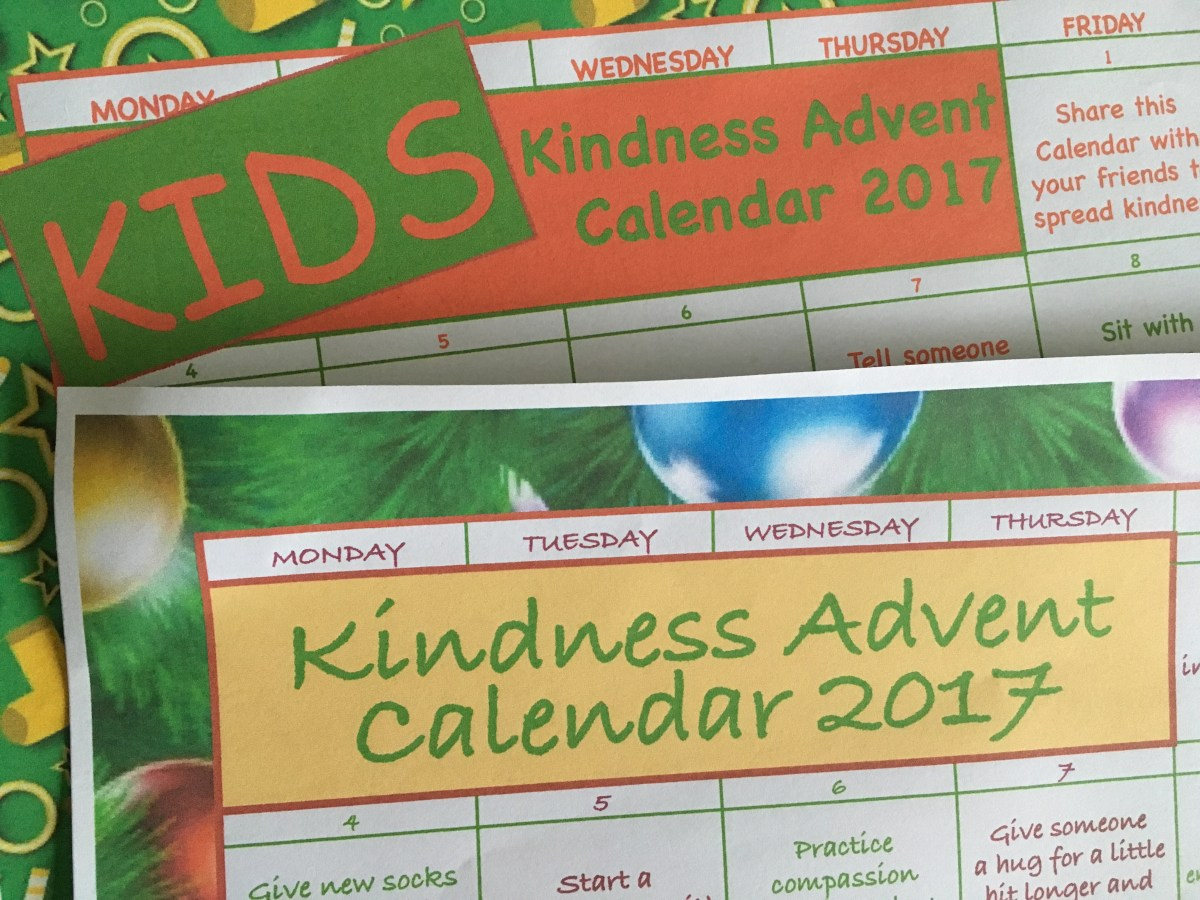 Kindness Advent Calendar 2017 – Coming Soon!