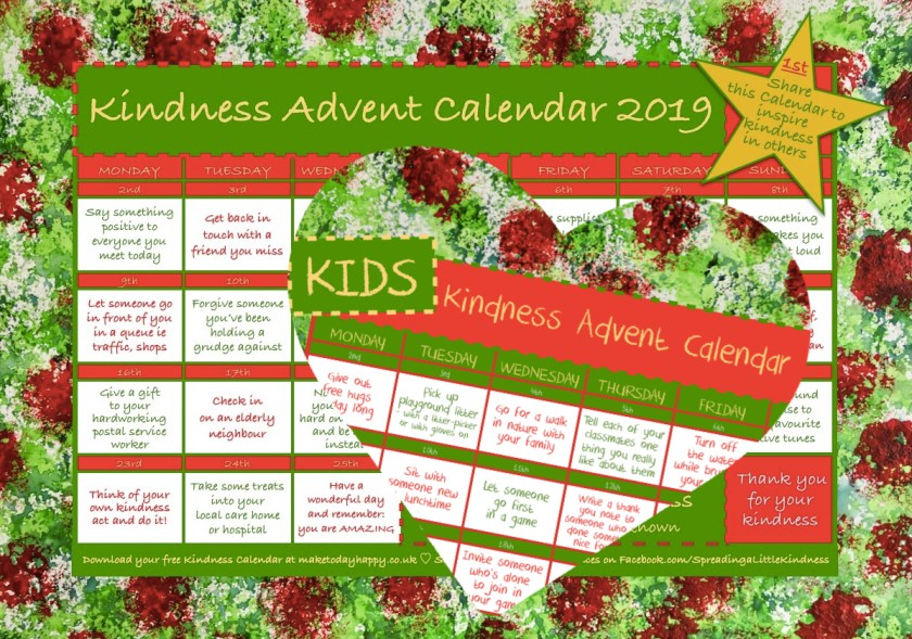 Kindness Advent Calendars Combined