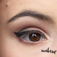 Neutral Smokey Eye Look with Orange Eyeshadow