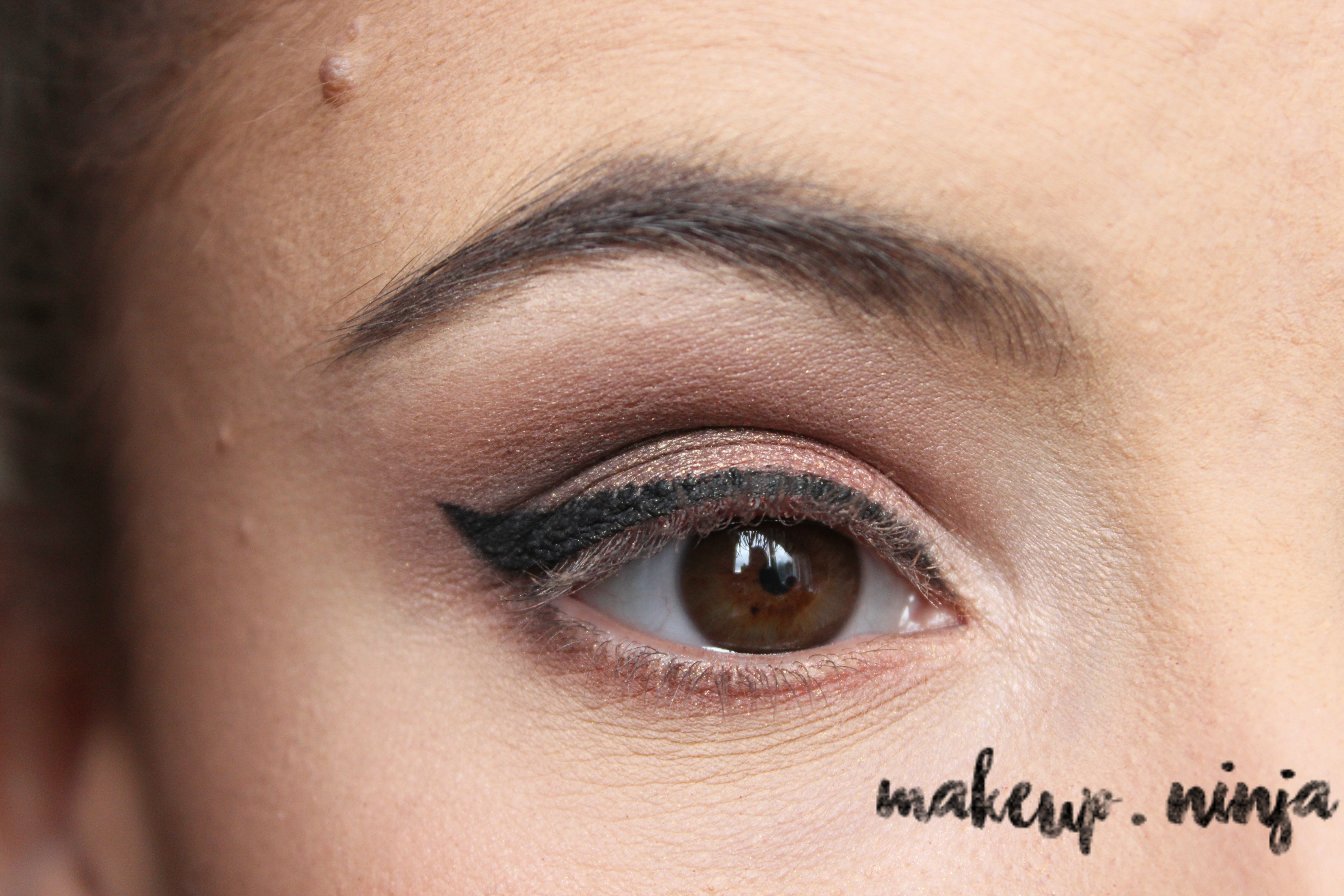 Neutral Smokey Eye Look with Orange Eyeshadow -