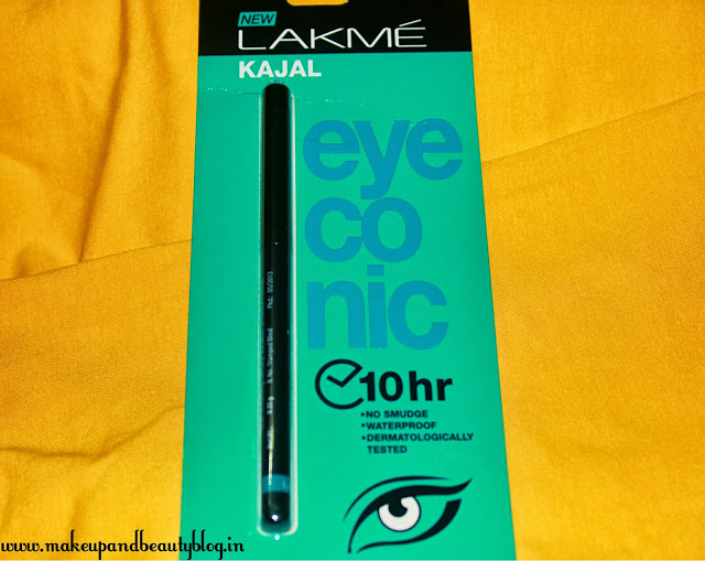 Lakme Eyeconic Kajal – Swatch and Review