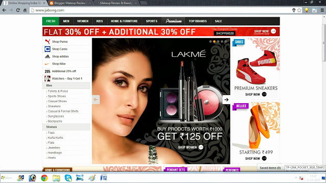 Online Shopping Website Review: Jabong.com