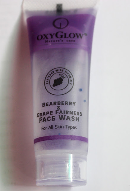 Oxyglow Bearberry & Grape Fairness Face Wash Review