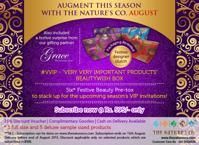 """PR: The Nature's Co. Gets All Set to Make the August """"Pre-Festive"""" #VVIP BeautyWish Box"""