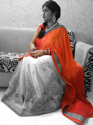 Diwali Saree OOTD Triveni