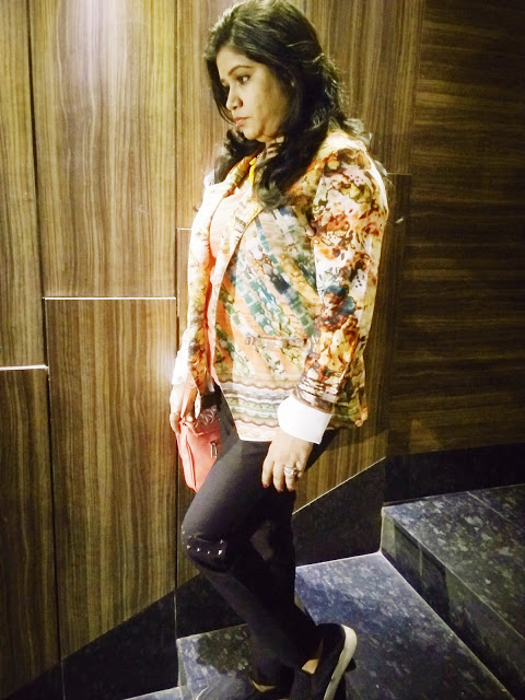 Abstract Print Shacket: OOTD