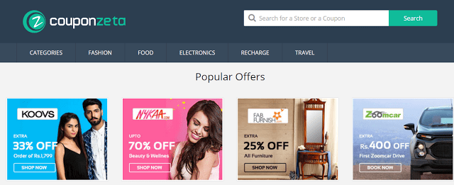 CouponZeta Review Deals, Offers & Coupons