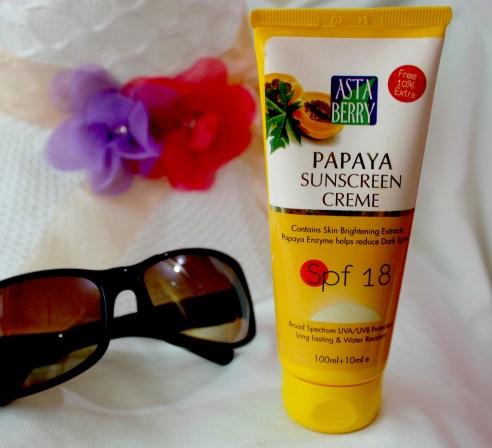 Astaberry Papaya Sunscreen Creme SPF 18 Review