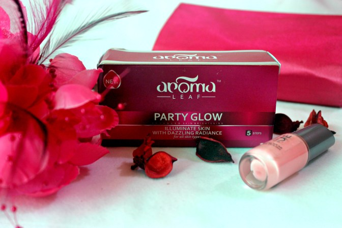 Aroma Leaf PARTY GLOW Facial Kit Review