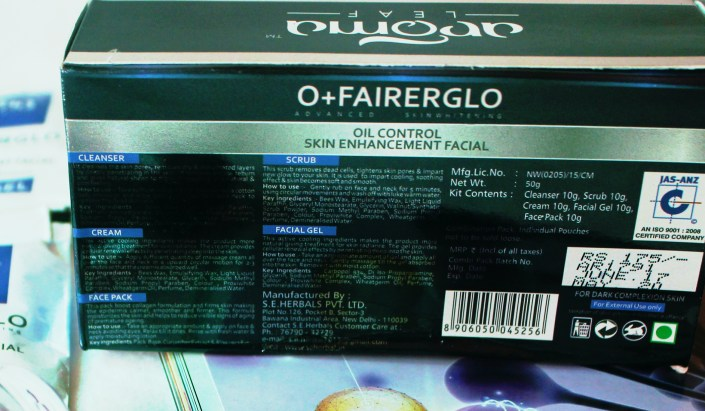 Aroma Leaf O+ Fairerglo Facial Kit Review
