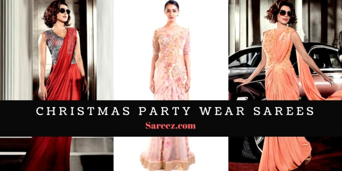 christmas party wear sarees buy latest designer sarees online