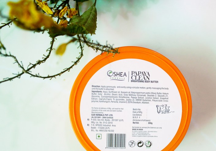 Oshea Papaya Clean Body Butter Review