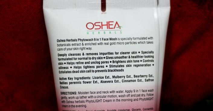Oshea Phytowash Luxury Face Wash Review