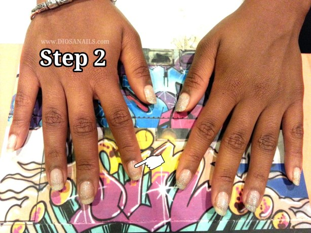Step2New Years Eve Party Nails Step 2
