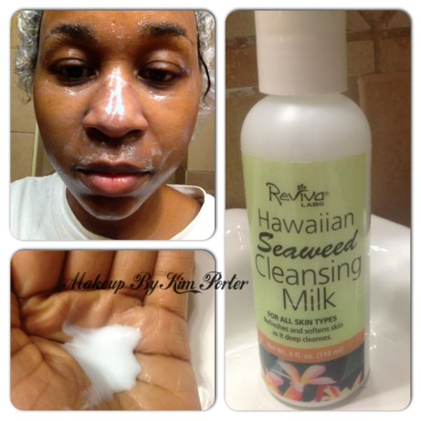 at-home spa facial reviva labs hawaiian seaweed facial cleansing milk
