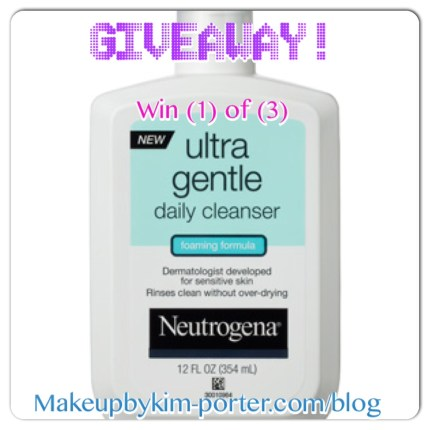 Neutrogena Ultra Gentle Cleanser Giveaway