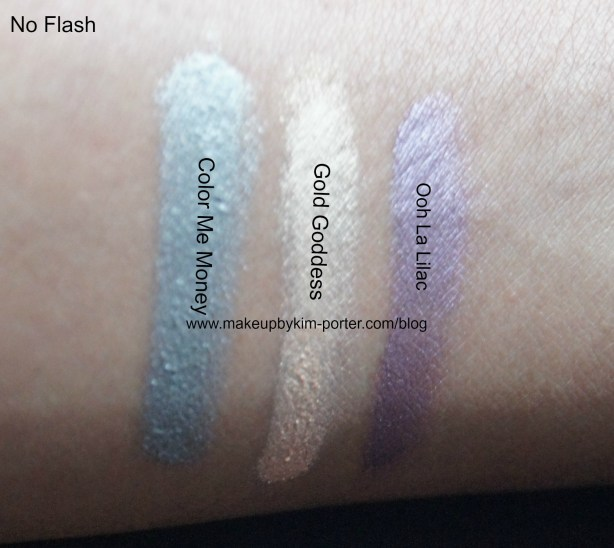 Covergirl Bombshell Shineshadow swatches no flash