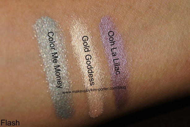 Covergirl Bombshell Shineshadow Swatches Flash