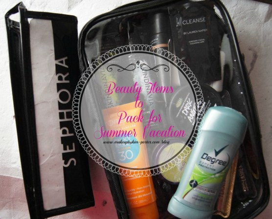 Beauty Items Summer Vacation