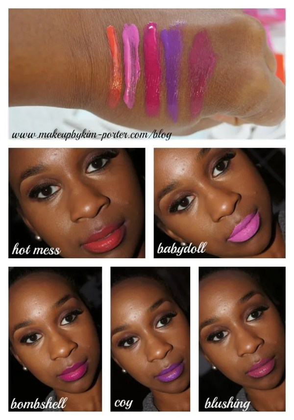LA Girl Glazed Lip Paint Swatches