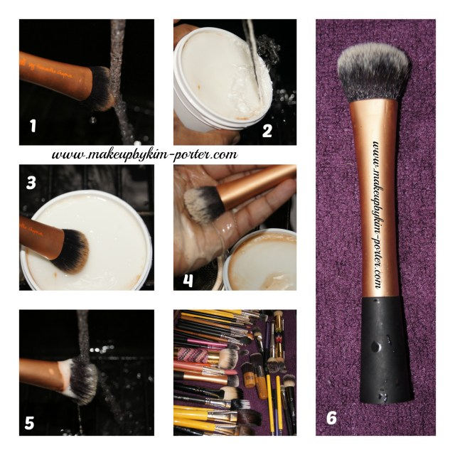 How to clean your makeup brushes pictorial