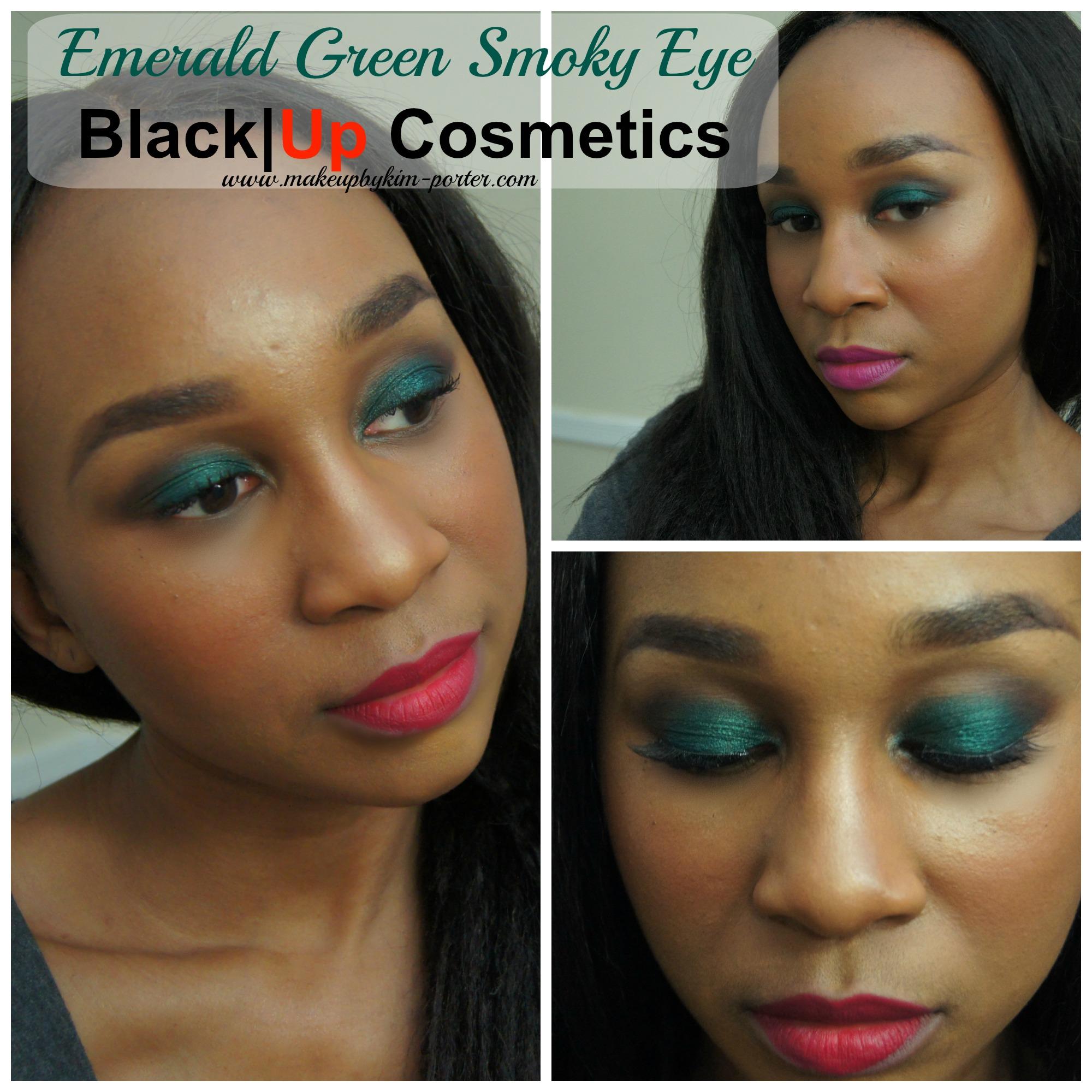 Emerald Green Smoky Eye Using Black Up Cosmetics