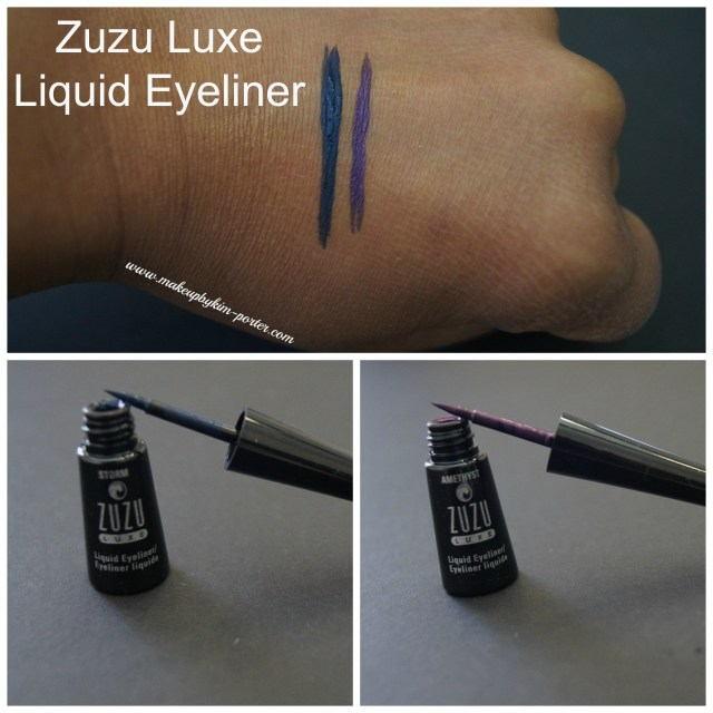 Zuzu Luxe Liquid Eyeliner swatches