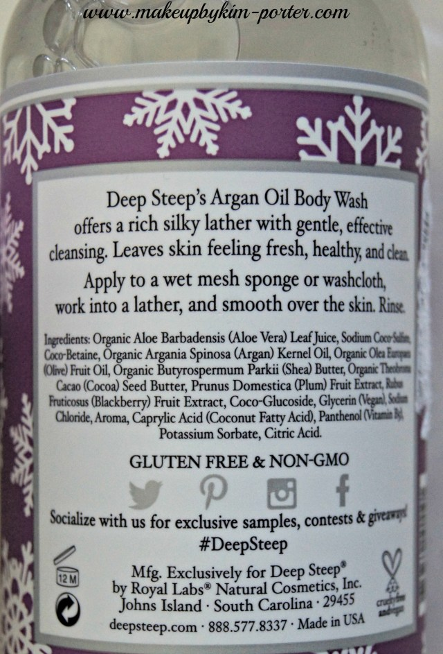 Deep Steep sugar plum body lotion