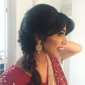 Indian bride - hair and makeup