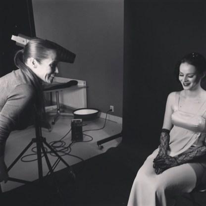 Nadine Balmer MUA on-set