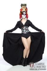 Castle Corsetry Halloween Shoot, Model: Scruffy Rebel Photographer: Greg De Stefano, Makeup: Me/Dawnielle Banks, Hair: Chrissy Lynn