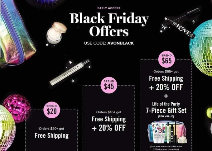 Avon Black Friday 2019- save on your favorite beauty products