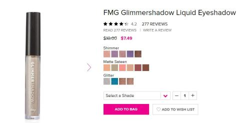 FMG Glimmershadow Liquid Eyeshadow Campaign 21 Catalog