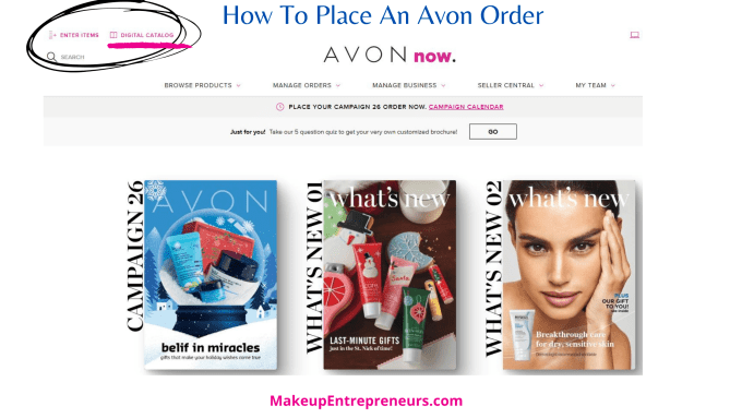 How To Place an Avon Order with Digital Catalog
