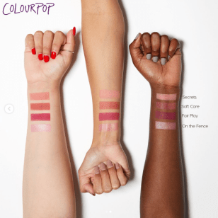Colourpop Belle of the Ball Pressed Powder Palette swatches
