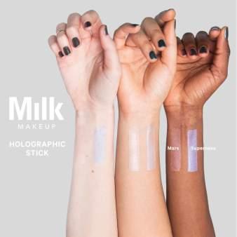 Milk Makeup Mars Holographic Stick Swatch 2