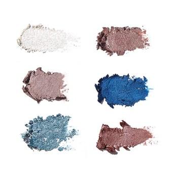 e.l.f Cosmetics Aqua Beauty Cushion Eyeshadow Palette cool mist swatches