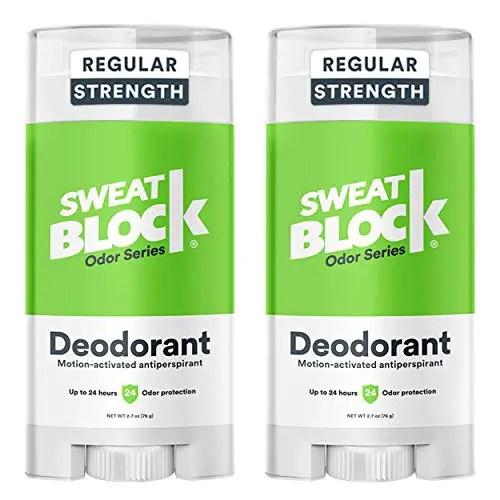 Sweatblock Antiperspirant for Men & Women, Regular Strength