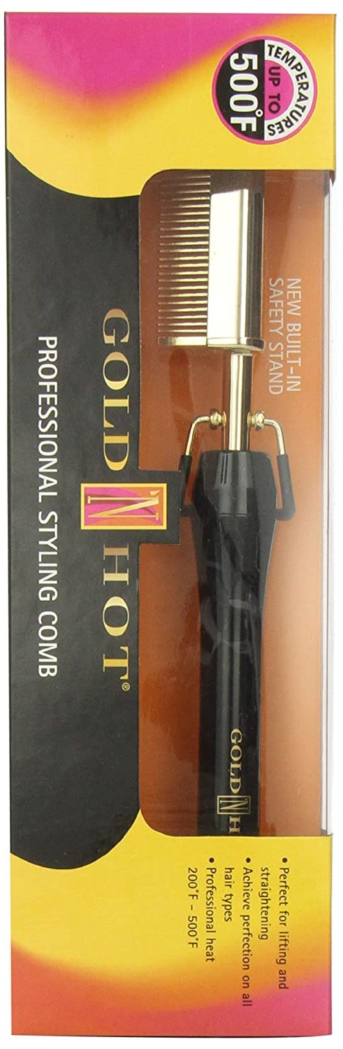 Gold N Hot Professional Styling Comb with Mtr (Multi-Temp Regulator):