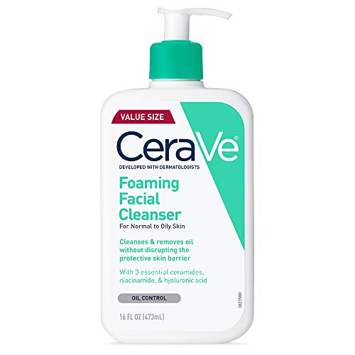 CeraVe Foaming Facial Cleanser Daily Face Wash for Oily Skin